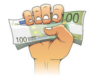 Euro banknote in people hand Royalty Free Stock Photography