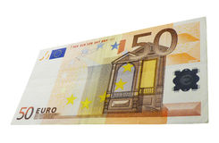 50 euro banknote photography november 2016 Royalty Free Stock Photography