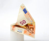 50 euro banknote. Picture of a 50 euro banknote Royalty Free Stock Photos
