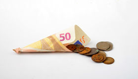 50 euro banknote. Picture of a 50 euro banknote Royalty Free Stock Images
