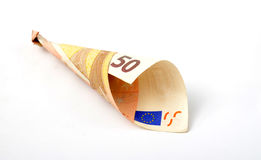 50 euro banknote. Picture of a 50 euro banknote Royalty Free Stock Photo
