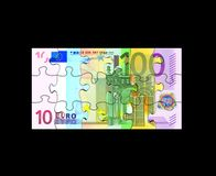 Euro Banknote Puzzle Royalty Free Stock Images