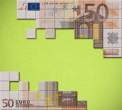 Euro banknote puzzle Royalty Free Stock Photos