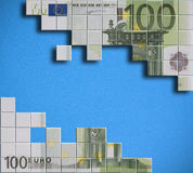 Euro banknote puzzle Stock Photo