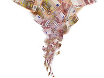 Euro banknote tornado Stock Images