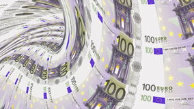 Euro banknote tunnel, financial depression, financial crash. stock video