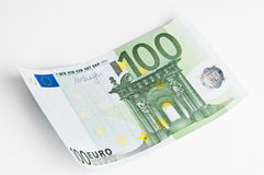 100 euro banknote. On white background Royalty Free Stock Photo