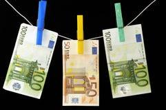 Euro Banknotes. Euro, 50 and 100 euros banknotes Stock Photo