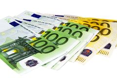 Euro banknotes. Royalty Free Stock Photo