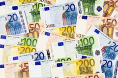 Euro banknotes. Royalty Free Stock Photography