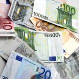 Euro banknotes. Carpet made of euro banknotes stock image
