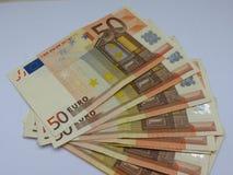 Euro banknotes. Euro (EUR) banknotes - legal tender of the European Union Royalty Free Stock Image