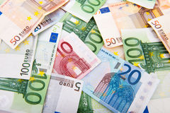 Euro banknotes Royalty Free Stock Photos