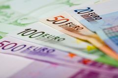 Euro Banknotes. European Currency. 20, 50, 100 and 500 euro Royalty Free Stock Photography