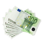 Euro banknotes. One hundred Euro banknotes, isolated Vector Illustration