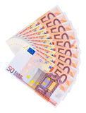 Euro Banknotes. Isolated on white background Stock Photography