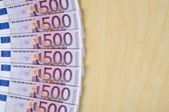Euro banknotes. Horizontal image of euro banknotes Royalty Free Stock Photography