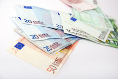 Euro banknotes Royalty Free Stock Photography