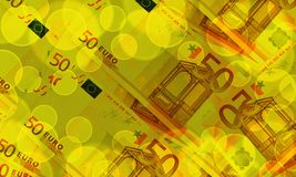 Euro banknotes abstract background Euro banknotes Royalty Free Stock Photos