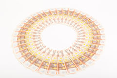 Euro banknotes arranged in a ring Stock Images