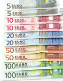 Euro banknotes as background Stock Image