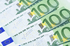 Euro banknotes as a background Royalty Free Stock Photo