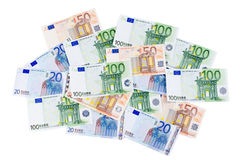 Euro banknotes as a background Stock Image