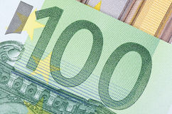 Euro banknotes as a background, close-up Royalty Free Stock Photography