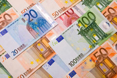 Euro banknotes background Stock Photos