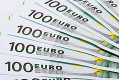 Euro banknotes background Stock Images