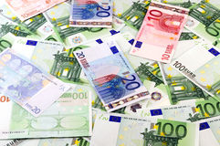 Euro banknotes background Royalty Free Stock Photos