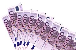 Euro banknotes background Stock Photo