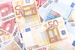 Euro banknotes background 3 Royalty Free Stock Photos