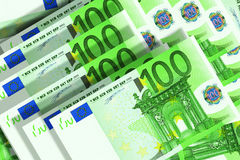 Euro banknotes. Background of 100 euro banknotes Royalty Free Stock Image