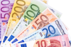 Euro banknotes. Background close-up Stock Images