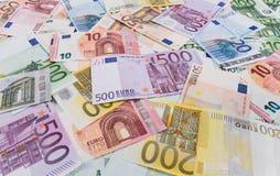 Euro banknotes background . Close up detail of euro banknotes Royalty Free Stock Photo