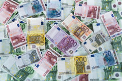 Euro banknotes background. Royalty Free Stock Photo