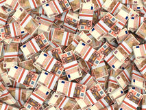 Euro banknotes background. Fifty euro banknotes background. 3D illustration Stock Photo