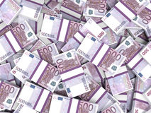 Euro banknotes background. Stock Photos