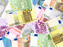 Euro banknotes background Royalty Free Stock Images