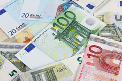 Euro banknotes - background Royalty Free Stock Image