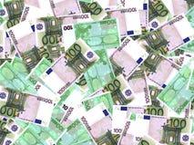 Euro banknotes background. One hundred euro banknotes background. 3D illustration Stock Image