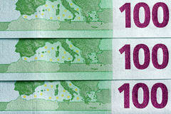 100 Euro Banknotes Background Royalty Free Stock Images