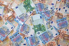 Euro Banknotes Background Royalty Free Stock Image