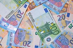 Euro Banknotes Background Royalty Free Stock Photo