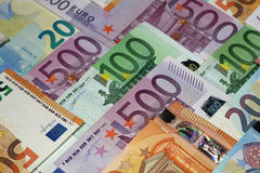 Euro banknotes background Stock Image