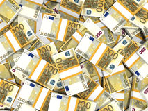 Euro banknotes background. Stock Photography