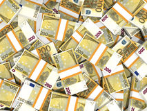 Euro banknotes background. Stock Photo