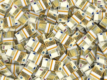 Euro banknotes background. Royalty Free Stock Photos