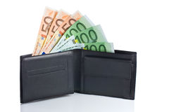 Money in a Wallet Royalty Free Stock Photos